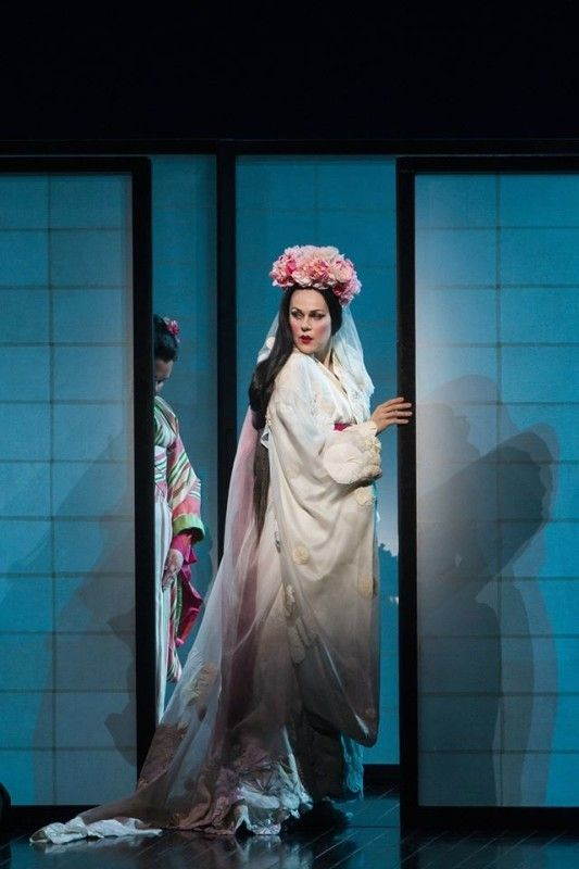 Kristīne Opolais in MADAMA BUTTERFLY. Metropolitan Opera, 2016. Photo: Marty Sohl.